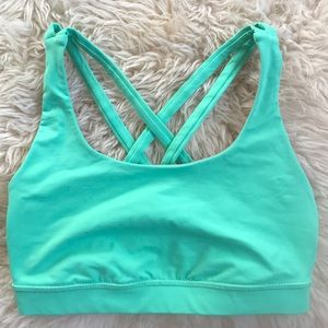 Lululemon Fresh Teal Energy Sports Bra Size 4